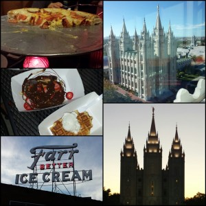 pizza at the pie | waffles at bruges | farr's ice cream | salt lake city temple