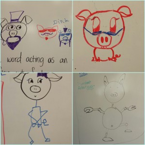 my students have a strange fascination with pigs....